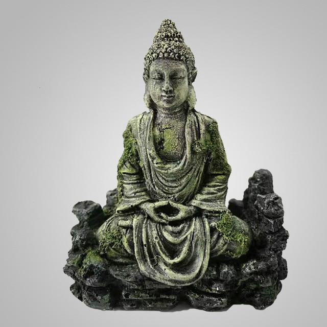Antique Buddha & Lighthouse Statue Aquarium Set  3