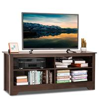 Goplus 58 TV Stand Entertainment Media Center Console Wood Storage Furniture Espresso Home Furniture HW63332
