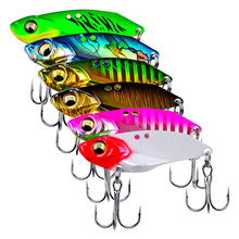 The Time brand metal vib blade lure 5g/7g/10g/15g sinking vibration baits artificial vibe for bass pike perch fishing(China)