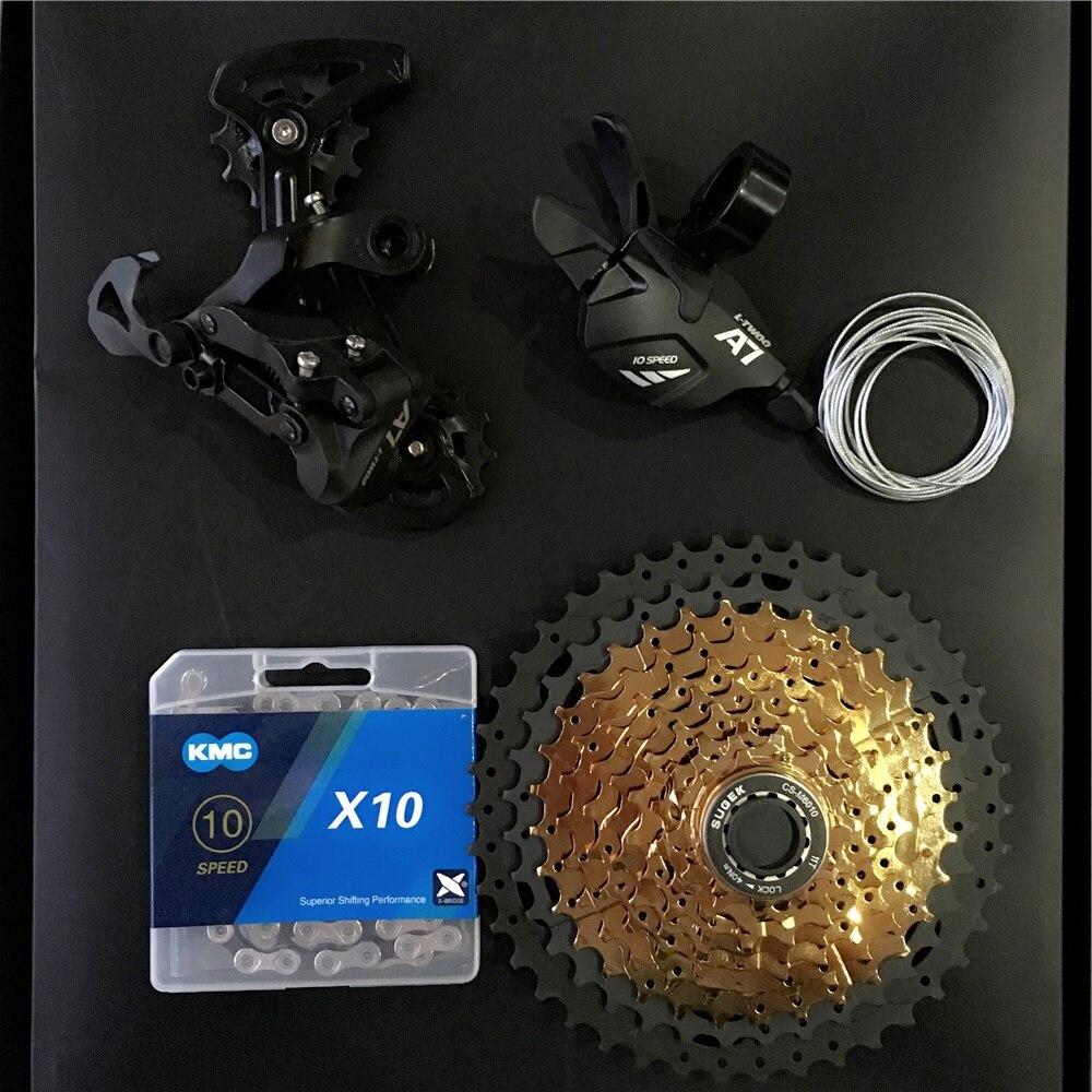 Grupo de cambio de marchas para bicicleta de montaña, desviador de 10 velocidades trasero, Cassette k7 de 10 S, 11-42T, para MTB, m610, m670, x5, x7, 1x10