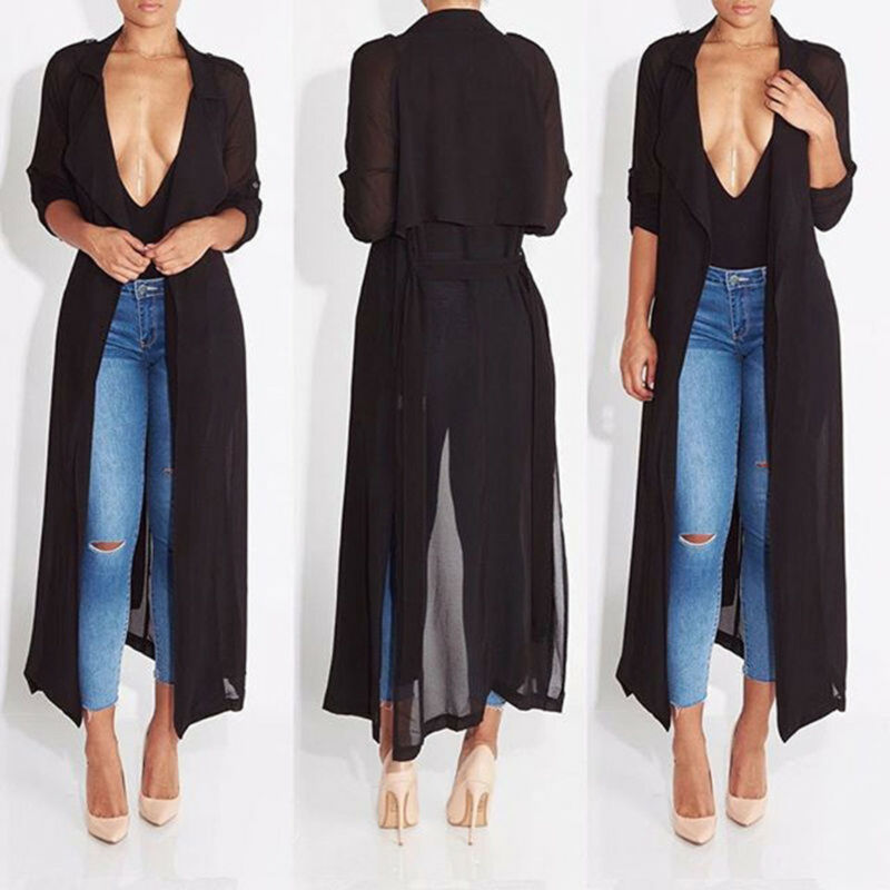 Women Casual Vintage Kimono Cardigan Ladies 2020 Summer Long Crochet Chiffon Kimono Preto Loose Solid Solid Open Blouse Tops