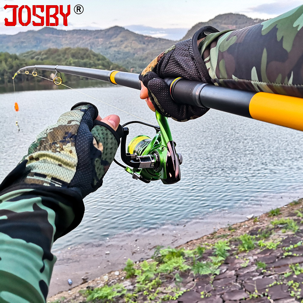 JOSBY Telescopic Fishing Pole Pesca Pesca Spinning Ultra Light For Carbon Feeder Rod FRP 2.1M 2.4M 2.7M 3M 3.6M Mini Surf Travel