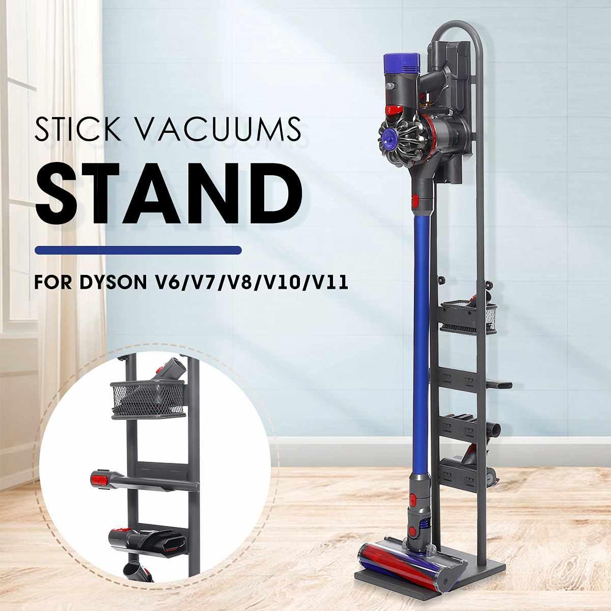 Vacuum Cleaner Storage Basket Rack Steel Stick Stand Home Tool Organizer Holder For Dyson V6 V7 V8 V10 V11 Cleaner Freestanding
