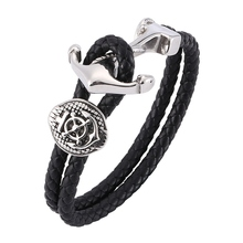 цена на New Silver Anchor Bracelet Multilayer Rope Chain  Bracelet For Men fashion Style Gift BB0181