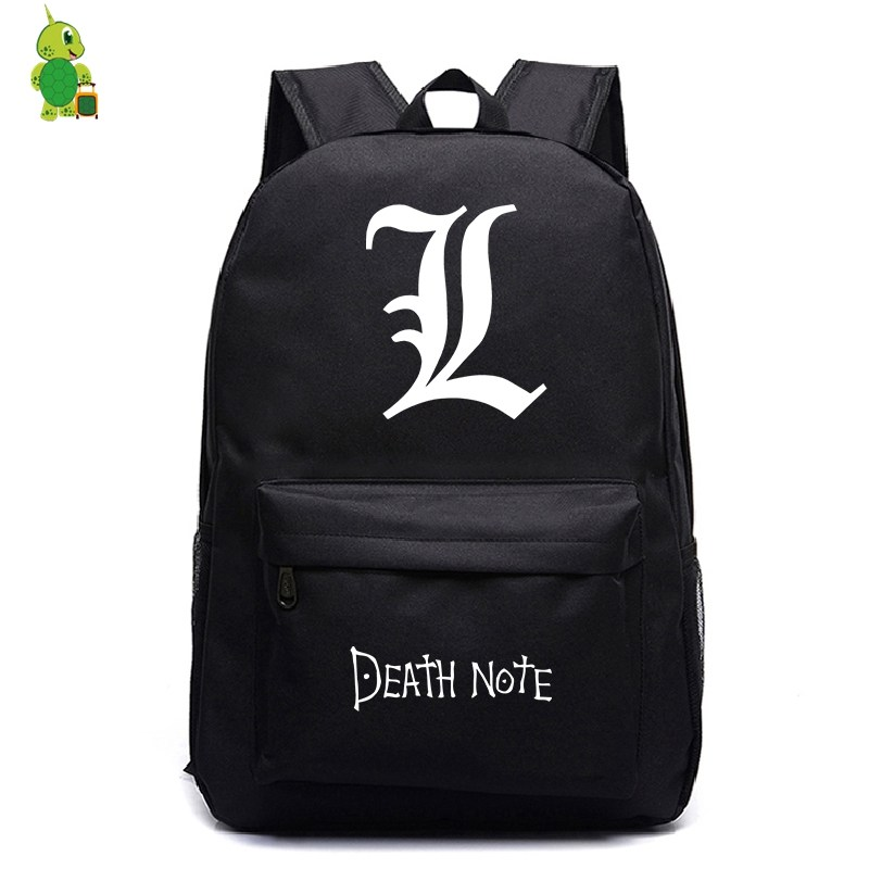 Death Note Backpack Casual Laptop Backpack School Bags For Teenage Girls Boys Fashion Travel Shoulder Bags Kids Book Bags