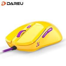 Игровая мышь dareu a960 pmw3389 65g легкая rgb подсветка мягкая