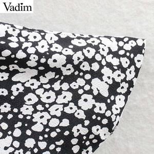 Image 5 - فستان نسائي مثير مكشكش ذو قصة ضيقة من Vadim فستان ذو سحّاب جانبي بأكمام ثلاثة أرباع تصميم مطوي فساتين غير رسمية ضيقة للسيدات QD188