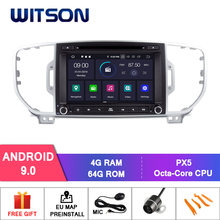 Witson android 9.0 ips tela hd para kia sportage 2016 carro dvd gps rádio 4 gb ram + 64 gb flash 8 octa núcleo estéreo + dvr/wifi dsp + dab(China)