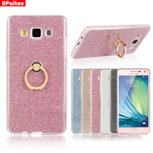 UPaitou Glitter Bling Case For Samsung Galaxy A3 A5 A7 A8 A9 2015 2016 2017 Note 3 4 5 C5 C7 C9 Pro Case Ring Holder Case Cover(China)
