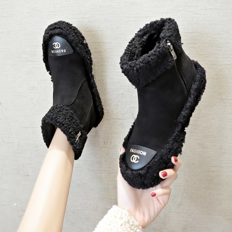 Women Boots 2019 New Plush Snow Boots For Winter Shoes Women Casual Lightweight Ankle Botas Mujer Warm Winter Boots Female 65