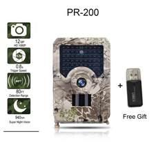 Cámara de rastreo LED de 12MP y 940nm, videocámara de caza impermeable IP56 con batería de 18650, visión nocturna, pista de trampas para fotos