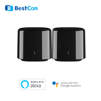 2pcs Broadlink 스마트 홈 기존 BestCon RM4C 미니 IR + 4G 음성 원격 제어 AC 허브 Wifi Google 홈 지원 Alexa Echo