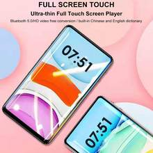 Full Screen MP4 Player Sensitive Touch Screen Bluetooth 5.0 3.5mm USB2.0 With Earphone Storage Support TF Card C-98 MP5 Player(China)