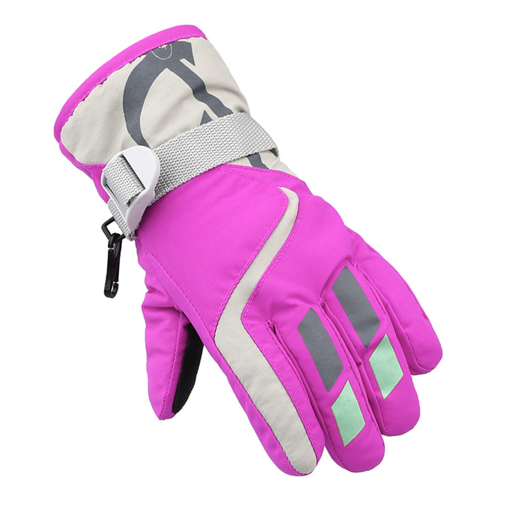 Winter Professional Snow Ski Gloves Women Girl Waterproof Warm Windproof Kids Breathable Cycling Skiing Snowboard Gloves Outdoor