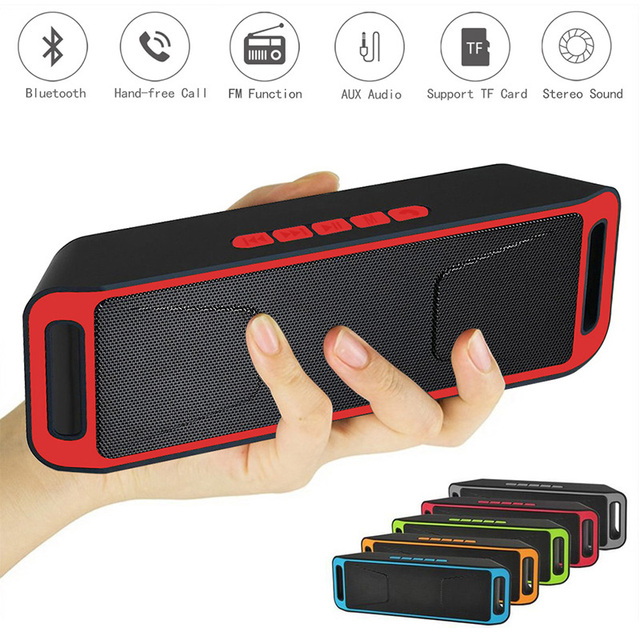 Portable Outdoor Wireless Bluetooth Speaker with Dual Horn Bass