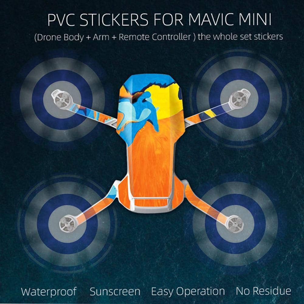 Royal Mavic Mini Sticker Pvc Waterproof Scratch-Resistant Body Arm Remote Control Protective Film Accessories