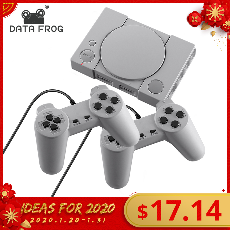 DATA FROG Mini 620 Retro Video Games Console Double Players 8 Bit Support AV Out Family TV Retro Games Controller