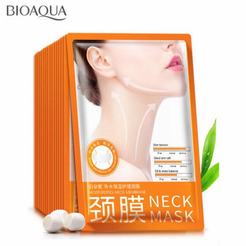 10PCS/lot BIOAQUA Neck Mask Hyaluronic Acid Lifting Firming Moisturizing Nourishing Mask Anti Wrinkle Aging Neck Cream Skin Care