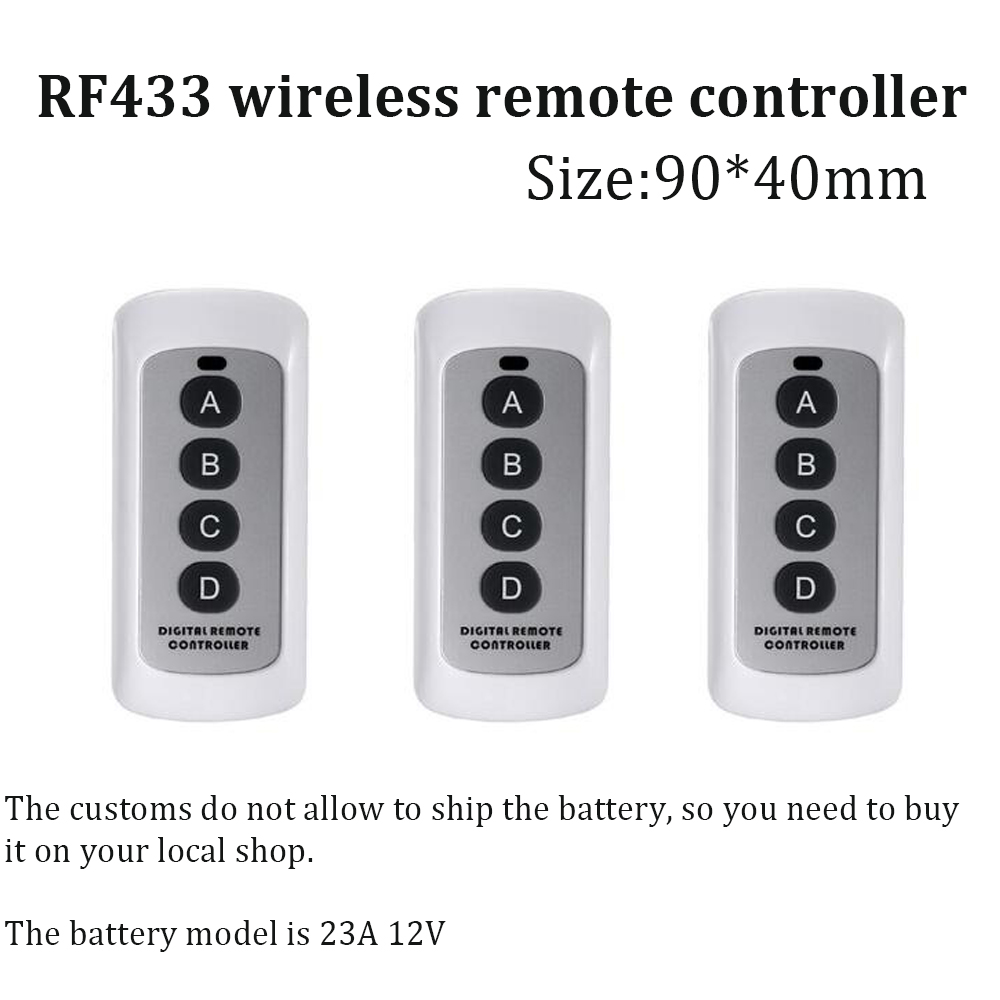 Wireless Smart remote controller 433MHz 4 Buttons light switch Accessories RF433 MHz distance 20m digital sticky controller