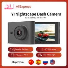 Yi nightscape traço câmera 2.4 polegada tela lcd 140 grande angular lente de visão noturna hd 1080p carro dvr dashboard câmera veículo