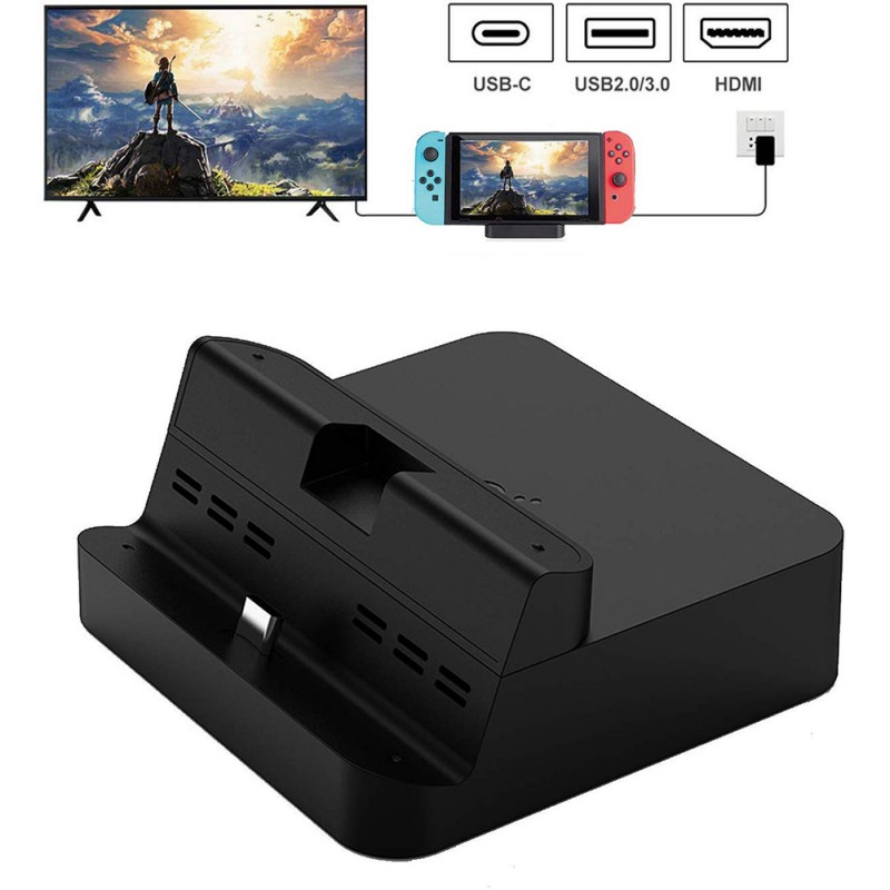 Gulikit Portable Charging Dock Stand For Nintendo Switch,Table Charger Docking Support Switch TV Mode/Dock Mode Game Accessories