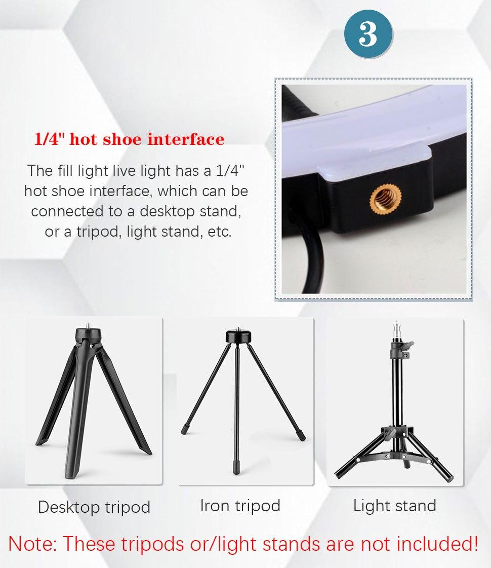 ringlight selfie anel luz com tripé para