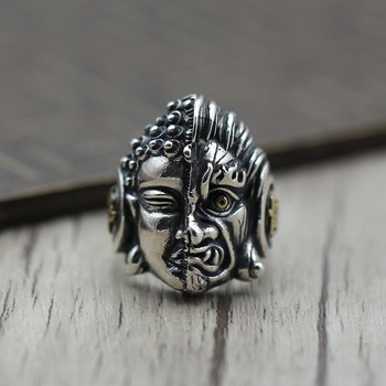 S925 Sterling Silver Personality Between Magic Of Magic Opening Ring Between Eyes Of Men And Women Jewelry Thai Silver Ring