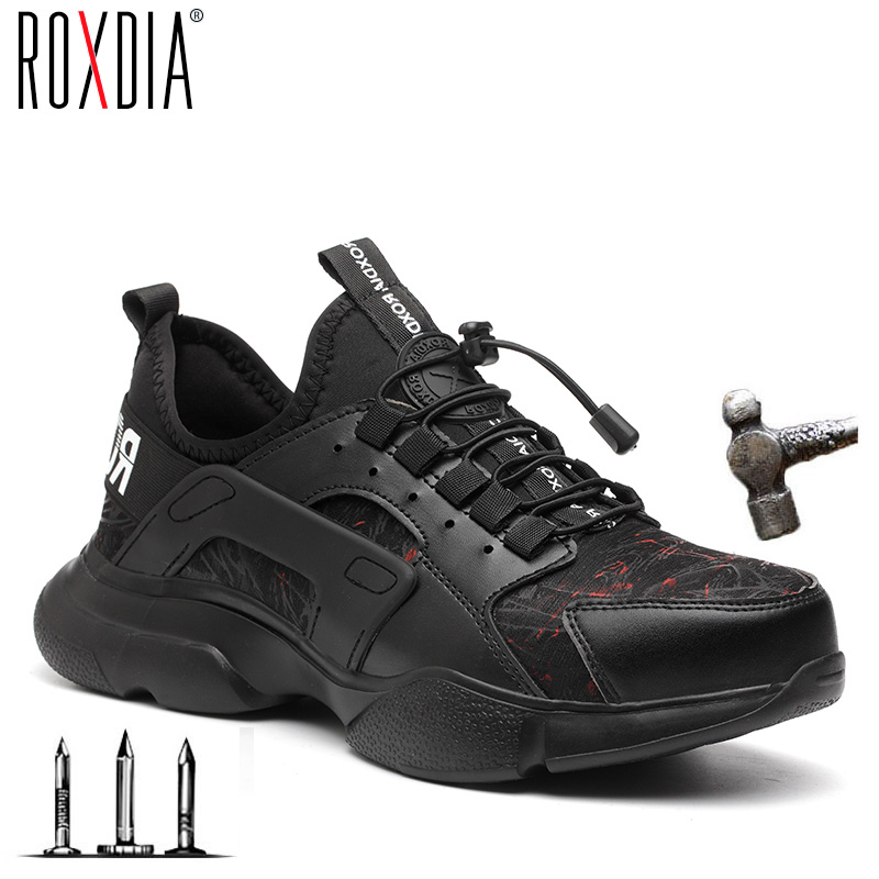 Steel Toe Cap Men Safety Shoes Light Weight Comfortable Work Sneakers Male Boots Breathable   Outdoor Shoe ROXDIA Brand RXM166