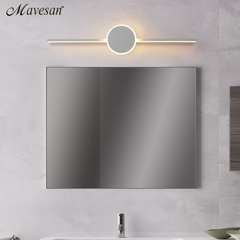 Modern Led Wall Lamps for bathroom Living Room white black iron Arylic base Indoor mirror Wall lights lighting luminaria