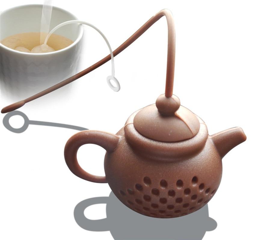 Details About Teapot-Shape Tea Infuser Strainer Silicone Tea Bag Leaf Filter Diffuser Tea Tools Supplies