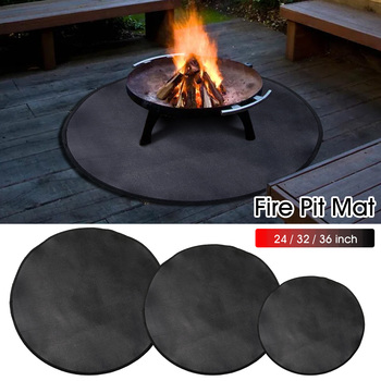 24/32/36in Fireproof Carpet Mat Barbecue Blanket Camping Fire Pit Cloth Protective