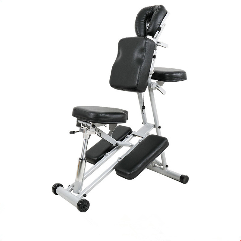 Portable Adjustable Massage Chair Strong Lightweight Folding Tattoo Spa Salon Facial Beauty Equipment Massage Chair with Wheels
