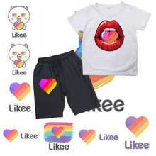 Likee summer children boy clothes 2020 sets kids 2pcs short