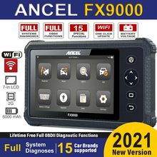 أداة تشخيص السيارات Ancel FX9000 OBD2 واي فاي جميع الأنظمة المهنية OBD 2 الماسح الضوئي TPMS DPF حاقن PK إطلاق CRP909X