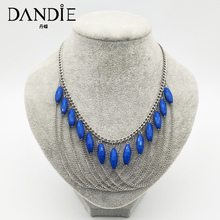 Dandie Acrylic and metal necklace, fashion, simple female accessories