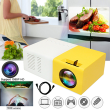 цена LED Projector Portable Mini Projector 1080P Movie Projector for Children Present Video TV Movie Party Game Outdoor