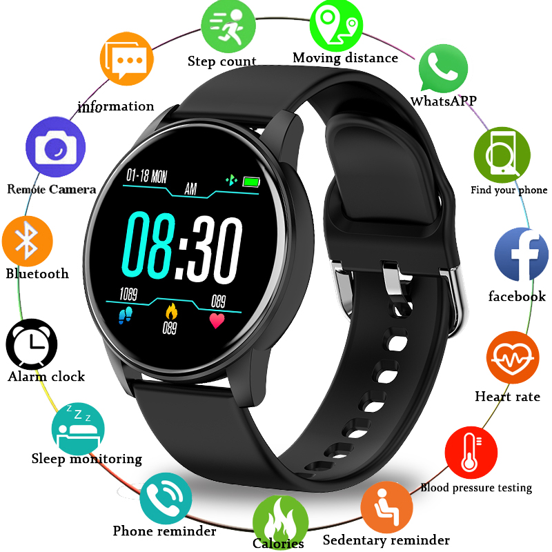 LIGE 2020 New Smart Watch Men Sport Multifunction Mode Heart Rate Blood Pressure Monitoring Replaceable Strap Women Smartwatch