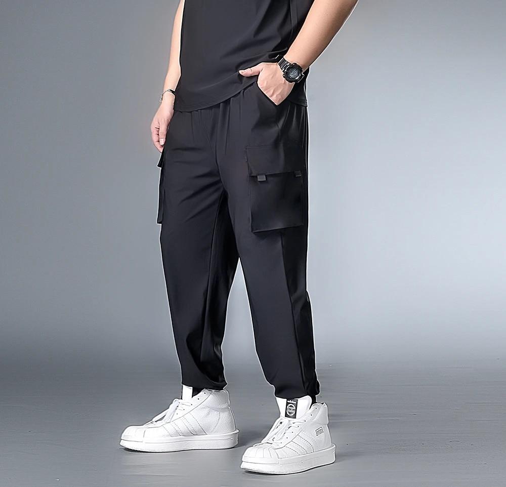 Harem Pants Men Black