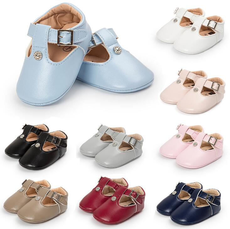 New T-bar Mary Jane Baby Girls Princess Ballet Shoes  Infants Baby Toddler Shoes Non-slip Newborn Crib Baby Shoes Soft Sole