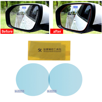 2 PCS/Set Auto Car Sticker Anti Fog Car Rearview Mirror Protective Film Car Mirror Window Clear Film Membrane Waterproof 2019 image