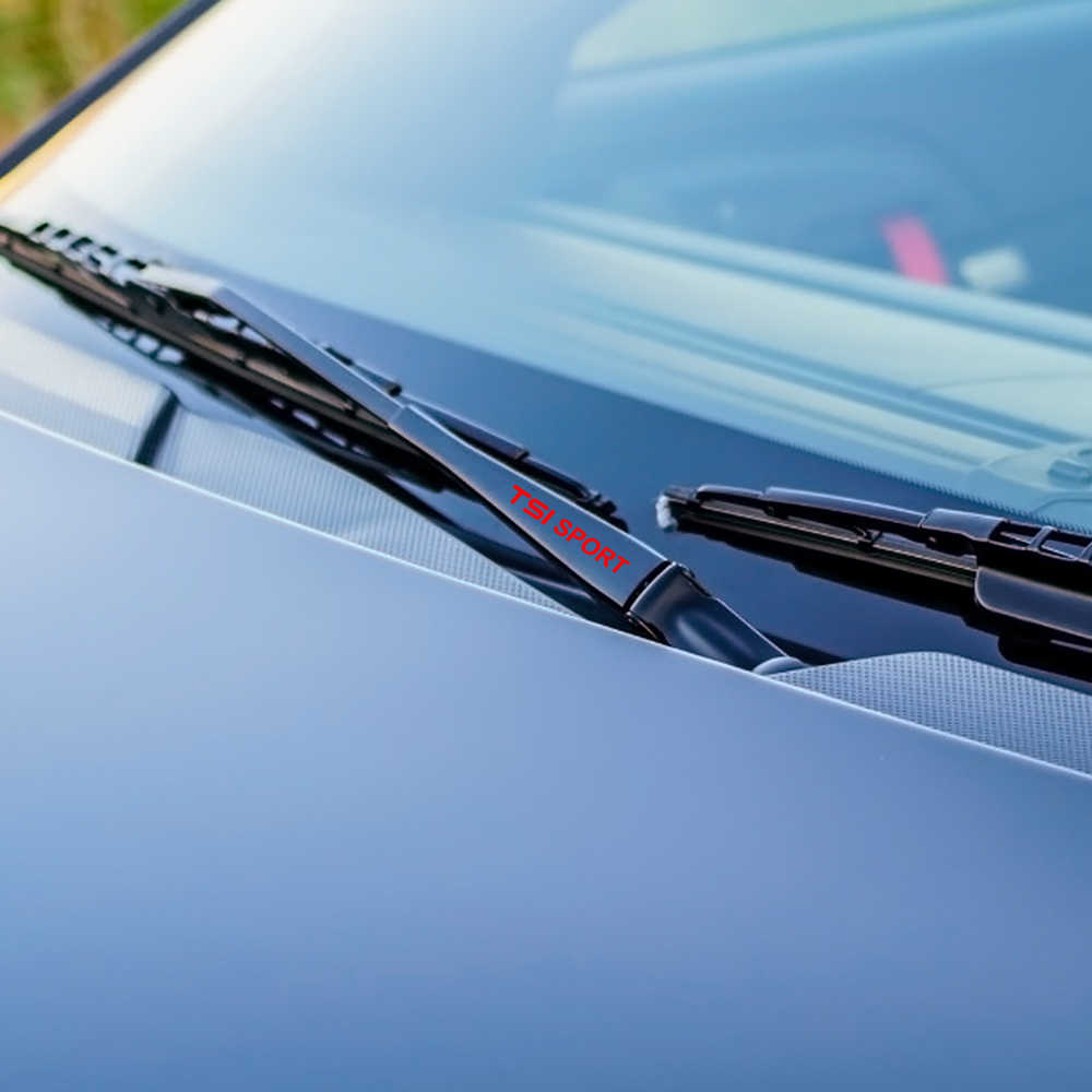 Autocollants d'essuie-glace de fenêtre de voiture de 4 pièces pour VW Volkswagen TSI T5 T4 CC Tiguan Passat B5 B6 Polo Golf 7 6 4 5 3 accessoires de Touareg de coccinelle