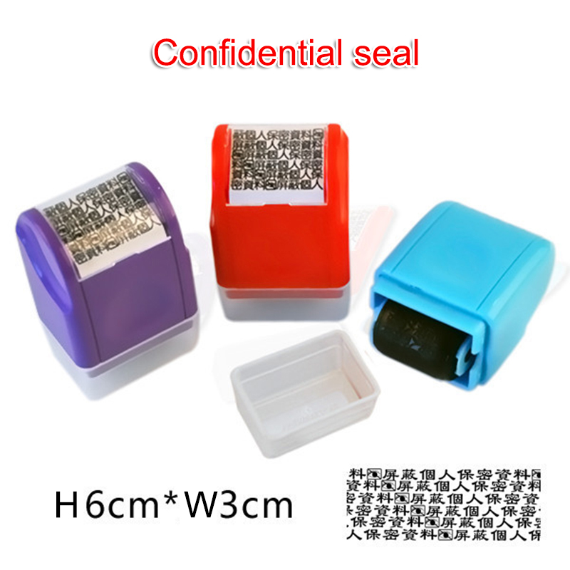Rolling Privacy Information Guard Stamp Confidential Seal Stamp ND998