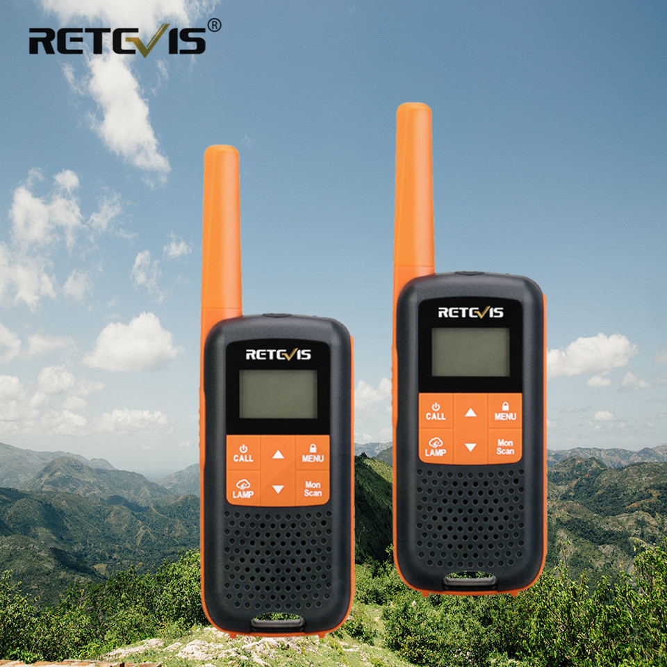 Retevis RT49 Two Way Radio 2pcs  Portable Walkie-talkie For Hunting Uhf NOAA PMR446 FRS VOX Flashlight Mini Walkie Talkie