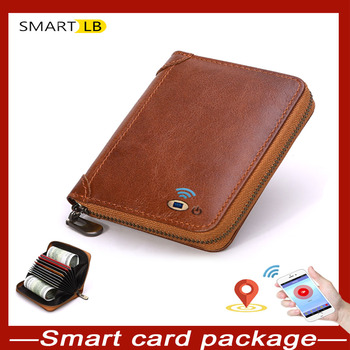 Smart LB Anti-lost Bluetooth Credit Card Holder Mens Double Cardholder Case Wallet Business Bank Creditcard Minimalist Wallet