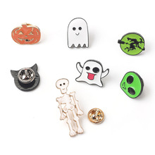 Brooch Pin Christmas Jewelry Enamel Pin Halloween Skeleton Lapel Pin Gifts for Women Skull Punk Badges Brooches Pins Backpacks gothic skull skeleton brooches metal pin button badges enamel hand women sweater kiss brooch black pins halloween jewelry gifts