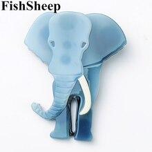 فيش الأغنام الموضة الاكريليك كبير الفيل بروش جميل الحيوان تايلاند الفيل الراتنج دبابيس دبابيس مجوهرات للنساء هدايا