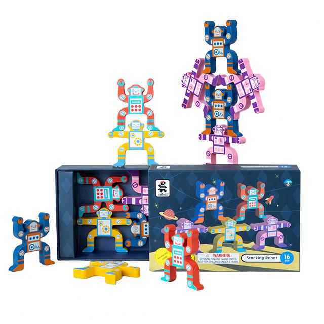 Robotime Building Blocks Wooden Stack Blocks Balancing Game Brain Development Toys For Kids Children