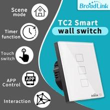Broadlink TC2 Switch WIFIUS UK EU 1 2 3 Gang Wall Light Switch Smart Home RM Pro IR+RF APP Remote Control for Alexa Google Home broadlink tc2 smart wall wifi touch light switch uk 3gang control via rm2 rm pro universal remote controller rf433mhz wifi ir rf