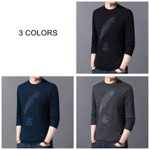 Image 4 - COODRONY suéter informal de punto para hombre, Jersey de algodón con cuello redondo, jersey de lana para hombre, moda de otoño e invierno, 91080