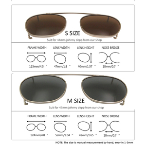 Image 4 - SORBERN Johnny Depp Sunglasses Clip On Polarized Lens For 2 Size Optical Glasses Stainless Steel Frame High Quality